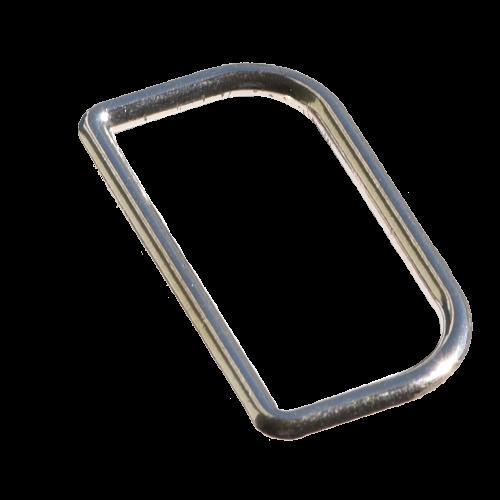 Metallschließe / D-Ring 14 x 25 mm