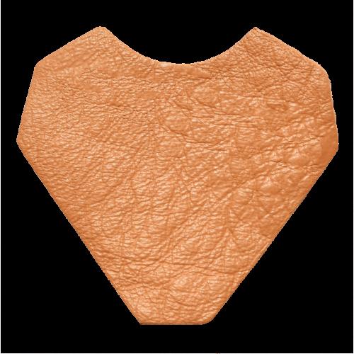 Lederstanzteil 4,0 x 3,8 cm